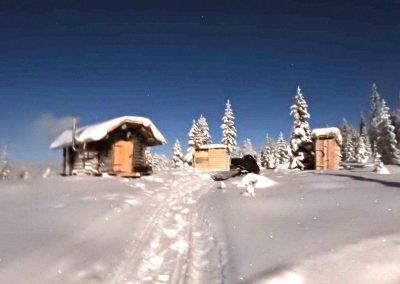 Blockhaus in Schweden im Winter - ganzjährige Vermietung